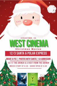 Christmas Movies at West Cinema @ West Cinema Cedartown