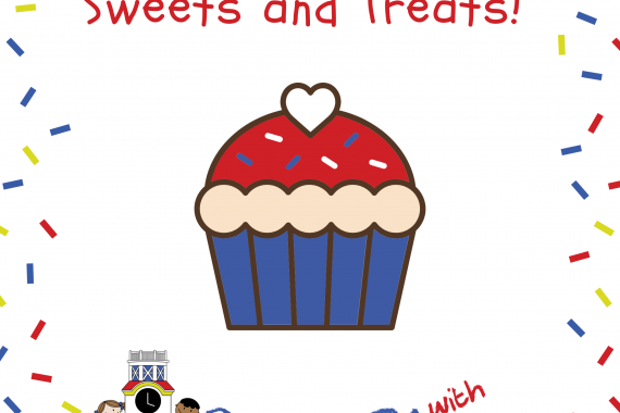 header image that says sweets and treats