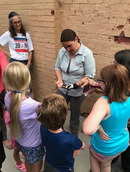 instructor teaching children