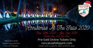 Christmas At The Falls 2020 @ Noccalula Falls Park and Campground