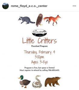 Eco Center Little Critters @ Rome-Floyd ECO Center