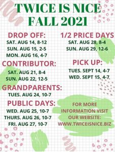 Twice is Nice Drop Off @ Coosa Valley Fairgrounds