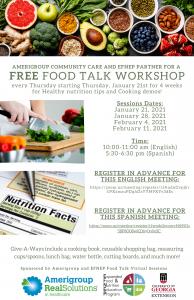 Virtual - Free Food Talk Workshop @ Amerigroup Community Care & EFNEP